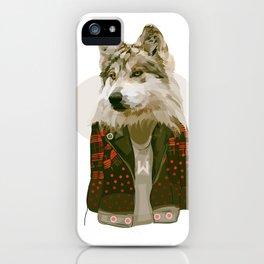 wolf jacket iPhone Case