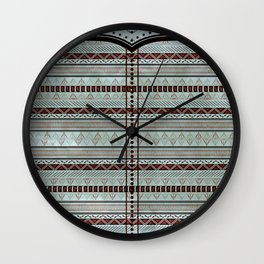 Harry Tribal Print Potter- Horcrux Blue Wall Clock