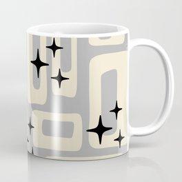 Retro Mid Century Modern Abstract Pattern 576 Gray Black Coffee Mug