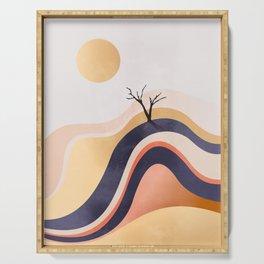 The Flowing Golden Desert Serving Tray