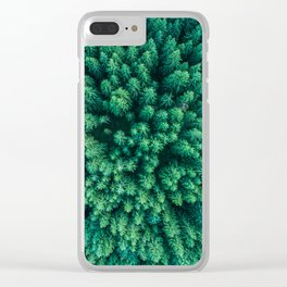 Forest from above Clear iPhone Case