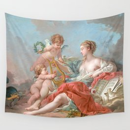 """François Boucher """"Allegory of Music"""" 1764 Wall Tapestry"""