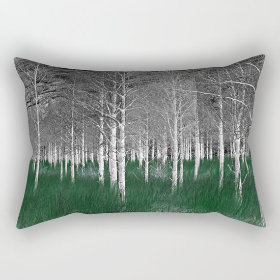 The woods are lovely, dark and deep part 1 Rectangular Pillow