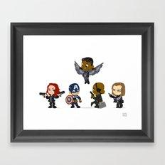 Wittle Winter Soldier Line Up Framed Art Print