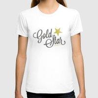 lesbian T-shirts featuring Gold Star Lesbian by ElekTwick