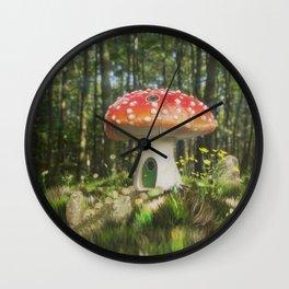 Fairy Mushroom House Wall Clock