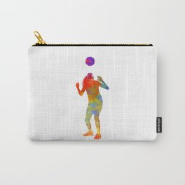 Woman soccer player 13 in watercolor Carry-All Pouch