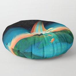 The Purrfect Alien Floor Pillow