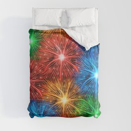 Colorful fireworks Comforters