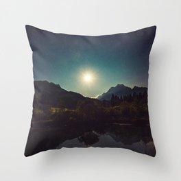 Moonshine, Stars and Nature Throw Pillow