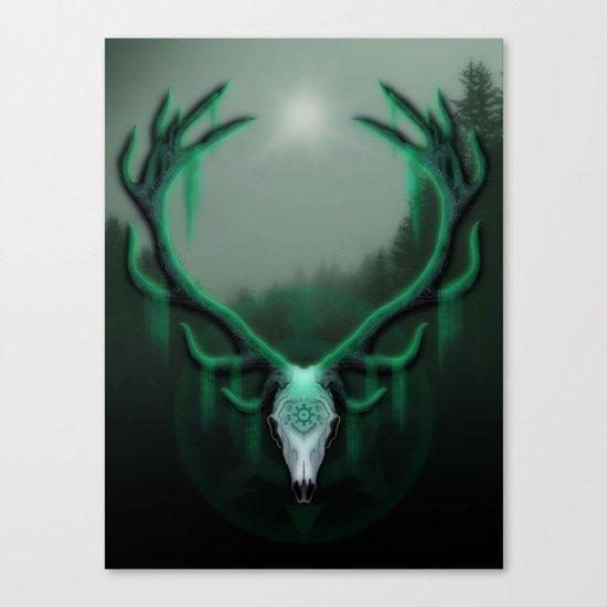 Wild Horns Canvas Print