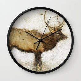Grand Canyon Elk No. 1 Wintered Wall Clock
