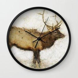 Grand Canyon Elk No. 1 Wintered Wall Clock