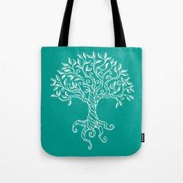 Tree of Life Teal Tote Bag