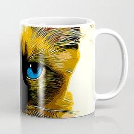 holy birma cat blue eyes vector art Coffee Mug
