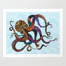 Electric Octopus Art Print