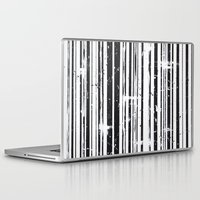 stripe Laptop & iPad Skins featuring Stripe by Moe Notsu