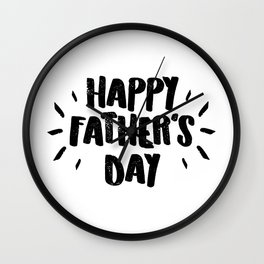 Happy Father's Day - Fun Bold Text Wall Clock