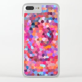 Geometric Abstract Spiral Clear iPhone Case