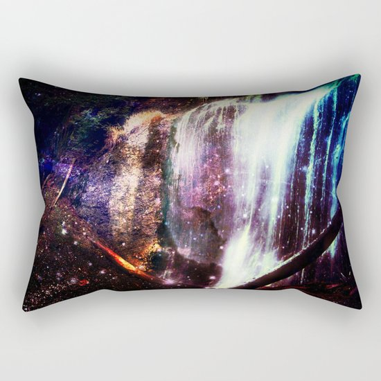 Waterfall Stars and Space Rectangular Pillow