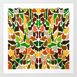 Autumn Camouflage Art Print
