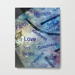 Fruits of the Spirit Christian Themed Modern Art Metal Print