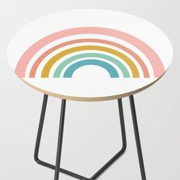 Simple Happy Rainbow Art Side Table