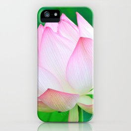 Lotus Lily Pink & Green iPhone Case