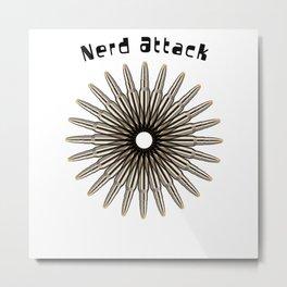 Nerd Attack Metal Print
