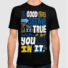 The Good Thing About Science Black LARGE Mens Fitted Tee