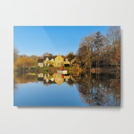 Lechlade Reflections Metal Print