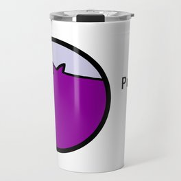 Portrait of Purple Pig Travel Mug