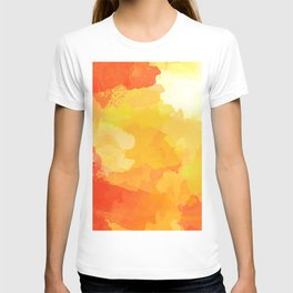 Colorful Abstract - red orange pattern T-shirt
