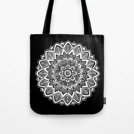 Black and White Boho Mandala Tote Bag