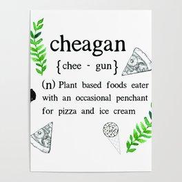 'Cheagan' Vegan Funny Print Poster