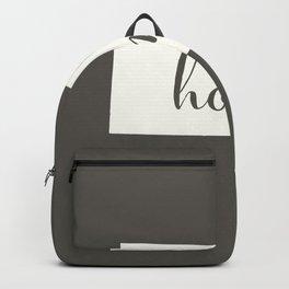 South Dakota is Home - White on Charcoal Backpack