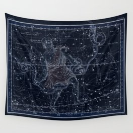 Celestial Map print from 1822 Wall Tapestry