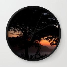 sf sunset 9.27.2010 Wall Clock