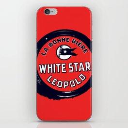 Belgian Beer White Star iPhone Skin
