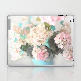 Shabby Chic Hydrangea Flowers Pink White Aqua Blue Laptop & iPad Skin