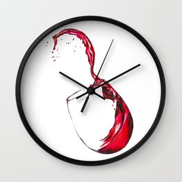 Wine Glass Wall Clock