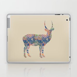 Antelope Vintage Floral Pattern Blue Orange Green Taupe Beige Rustic Shabby Laptop & iPad Skin