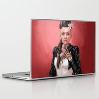 mass effect Laptop & iPad Skins featuring Mass Effect - Jack's Wedding by Amber Hague