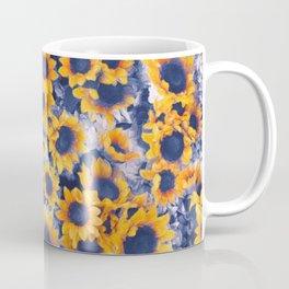 Sunflowers Blue Coffee Mug