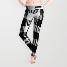 Buffalo Plaid - Black and White Leggings