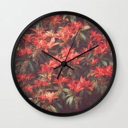 ROYAL SCARLET RED Wall Clock