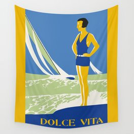 Dolce Vita Jazz Age Summer Travel Wall Tapestry