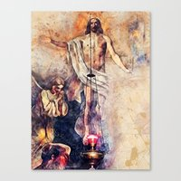 christ Canvas Prints featuring  Jesus Christ by jbjart