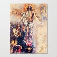 christ Canvas Prints featuring  Jesus Christ by jbjart