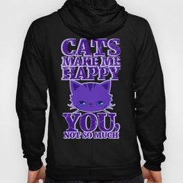 Cats Make Me Happy Hoody